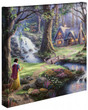 """Snow White Discovers the Cottage 14"""" x 14"""" Gallery Wrapped Canvas"""