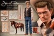 star ace james dean cowboy deluxe version one sixth scale figure