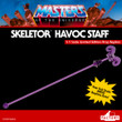 factory entertainment masters of the universe skeletor havoc staff prop replica