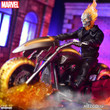 mezco one 12 collective ghost rider hell cycle action figure set