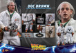 hot toys back to the future doc brown one sixth scale figure