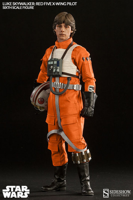 luke skywalker red five figure