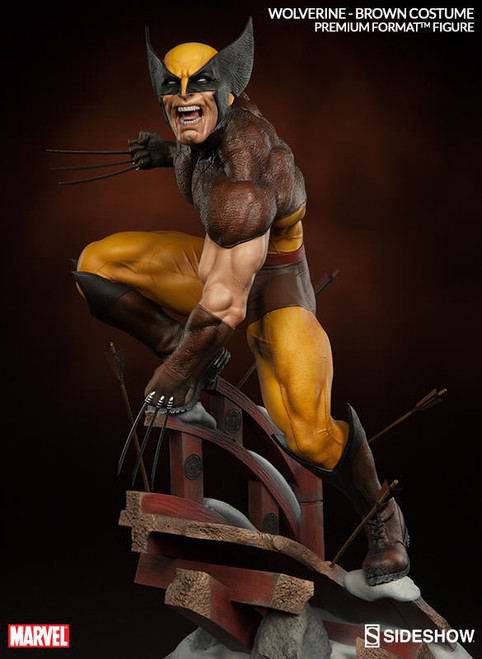 wolverine brown costume premium format figure