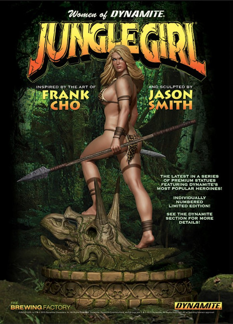 jungle girl statue
