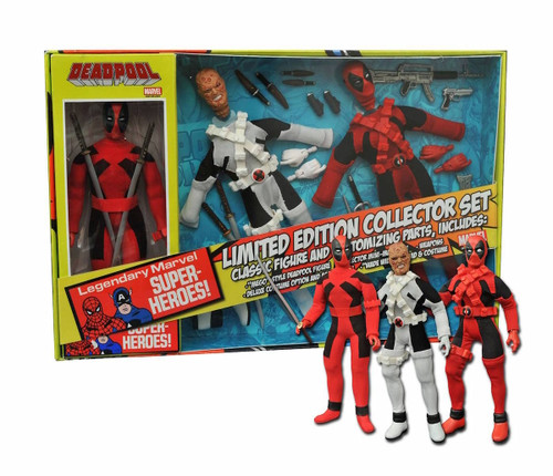 diamond select toys deadpool retro action figure set