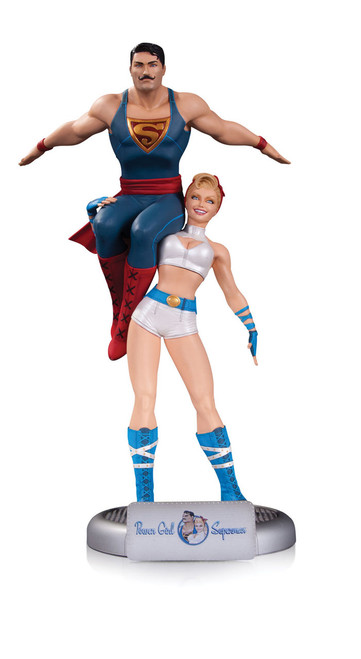 dc comics bombshells power girl superman statue