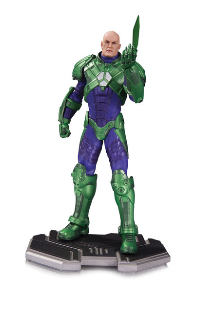 dc comics icons lex luthor statue