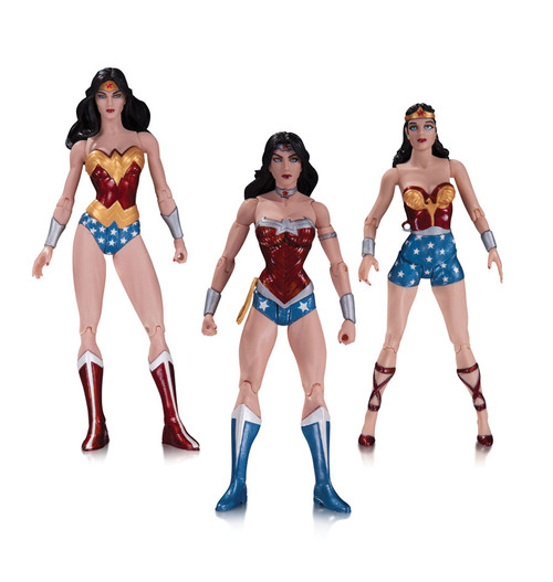 wonder woman action figure 3 pack