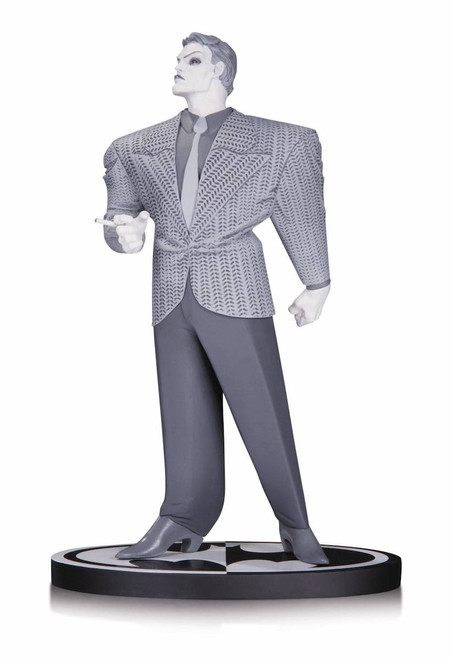 batman black white joker statue frank miller