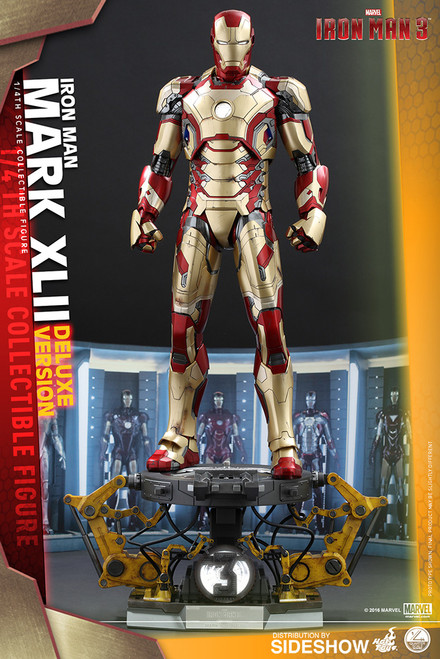 hot toys iron man mark xlii deluxe quarter scale figure
