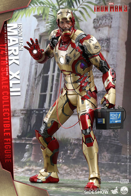 hot toys iron man mark xlii quarter scale figure