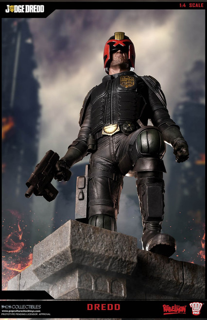 pop culture shock collectibles modern judge dredd statue