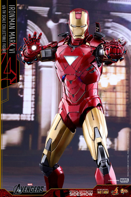 hot toys iron man mark vi diecast movie masterpiece series sixth scale figure