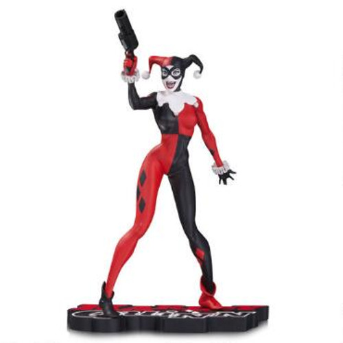 DC Collectibles Harley Quinn Red, White, & Black Statue by Jim Lee