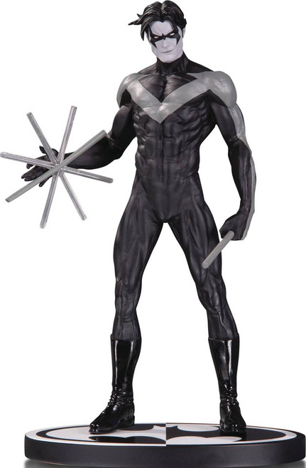 dc collectibles batman black & white statue nightwing by jim lee