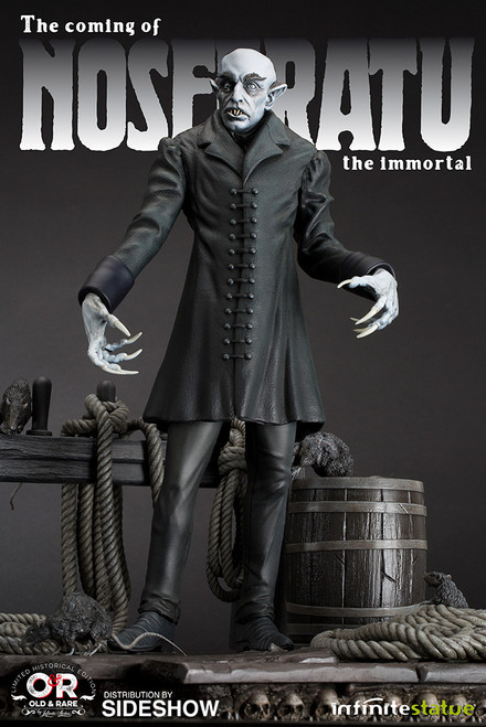 infinite statue coming of nosferatu statue