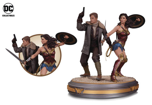 dc collectibles wonder woman steve trevor statue