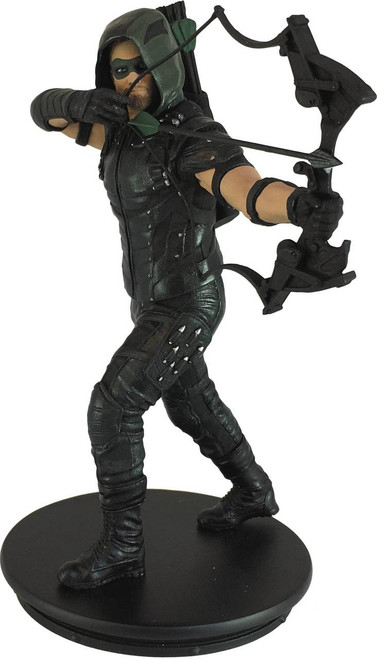 icon heroes arrow tv green arrow statue paperweight