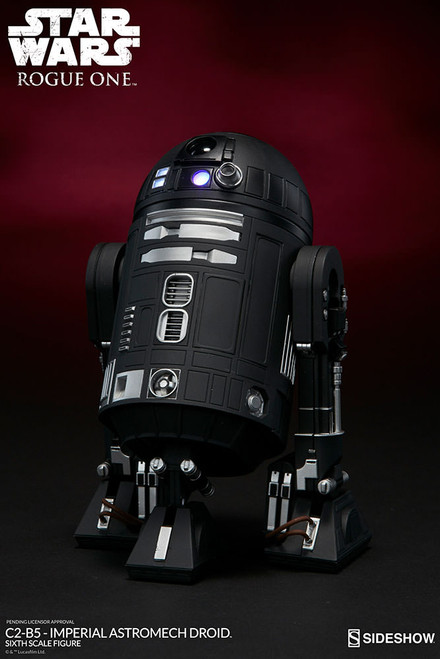 sideshow collectibles rogue one c2-b5 astromech droid 1:6 scale figure