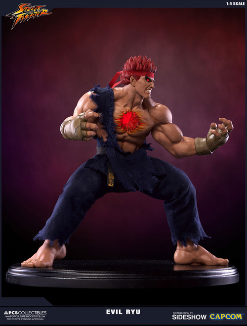 pop culture shock collectibles street fighter evil ryu quarter scale statue-a
