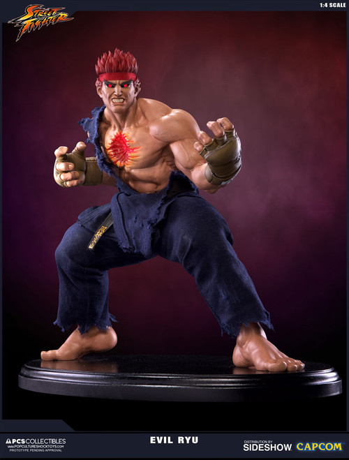 pop culture shock collectibles street fighter evil ryu quarter scale statue
