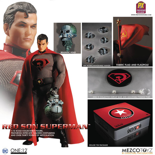 One 12 Collective DC Previews Exclusive Superman Red Son Action Figure