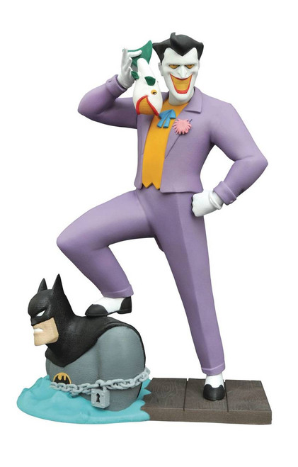 diamond select toys batman animated series gallery laughing fish joker pvc figure