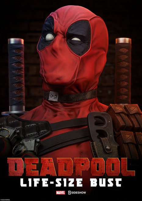 sideshow collectibles deadpool life size bust