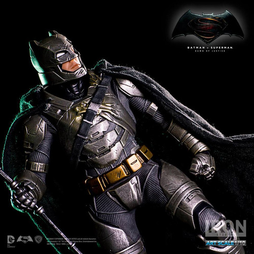 iron studios batman v superman dawn of justice 1/10 scale art statue battle damaged armored batman