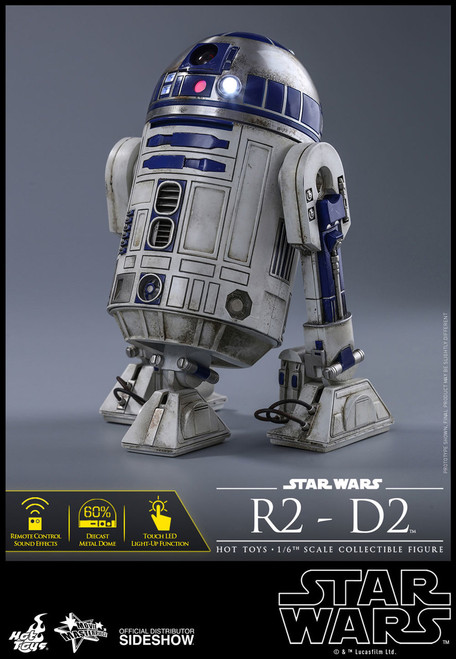 hot toys r2-d2 1/6 scale figure the force awakens