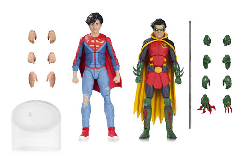 dc icons robin and superboy action figure 2 pack