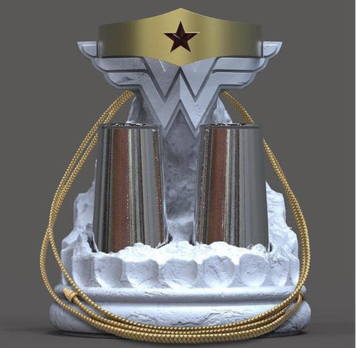 dc collectibles wonder woman bracelets and tiara with lasso prop replica