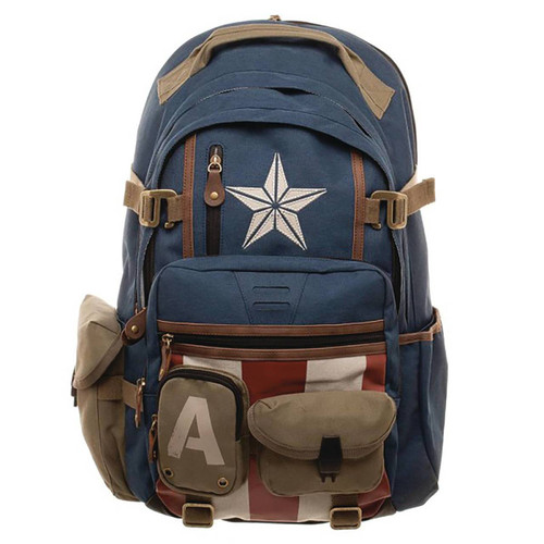 Bioworld Merchandising Marvel Captain America Suit-Up Backpack