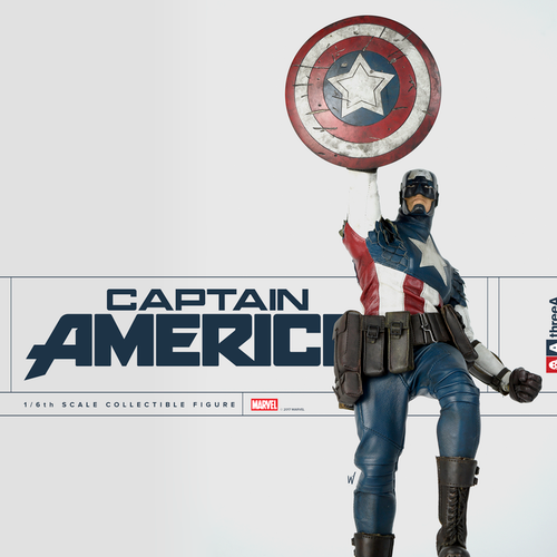 threea captain america sixth scale figure