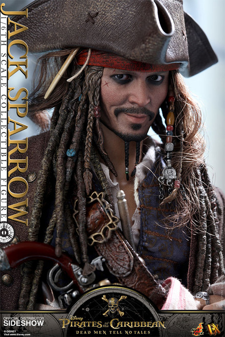 hot toys jack sparrow sixth scale figure dead men tell no tales