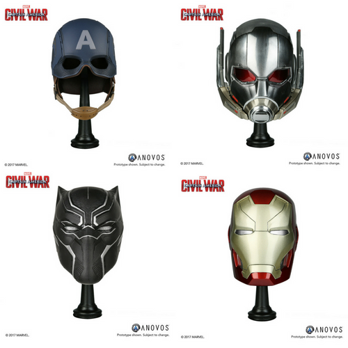 Marvel Armory Collection: Captain America Civil War Scale Replica Helmets -Set of Four