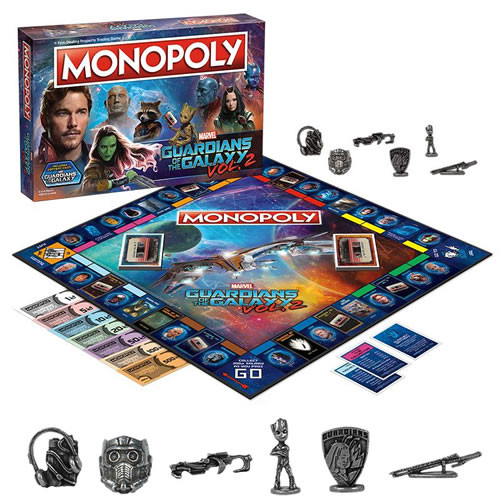 monopoly guardians of the galaxy 2 board game