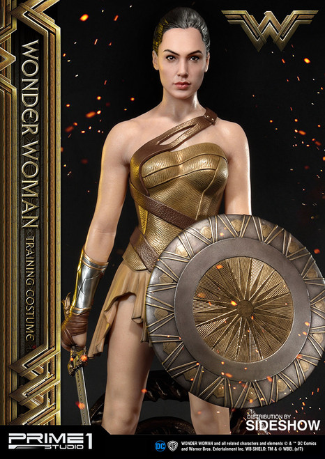 Wonder Woman Training Costume Statue