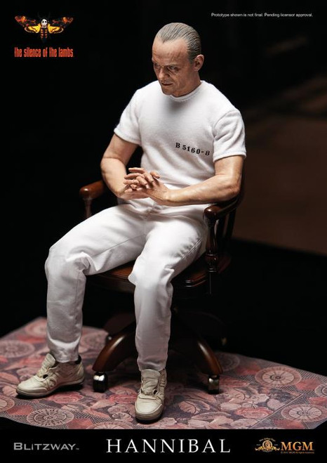 The Silence of the Lambs Hannibal Lecter 1:6 Scale Figure - White Prison Uniform