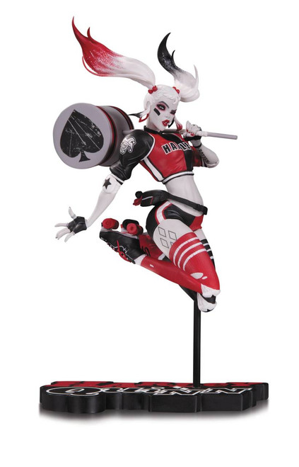 Harley Quinn Red, White, and Black Statue by Babs Tarr