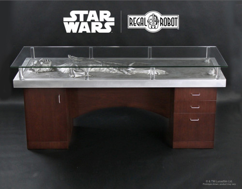 regal robot han solo carbonite desk 001
