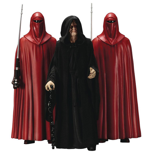 Star Wars Emperor Palpatine and Royal Guard 3 Pack ARTFX+ Statue