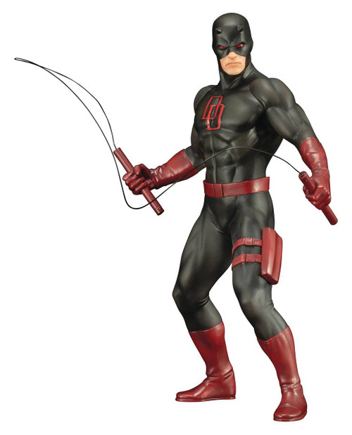 Marvel Defenders Daredevil ARTFX+ Statue - Black Suit Version
