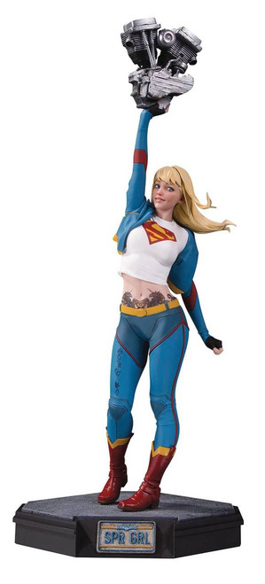 Gotham City Garage Supergirl Statue