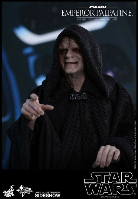 hot toys emperor palpatine 1/6 scale figure