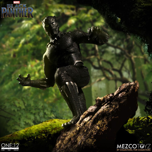 mezco one 12 collective black panther action figure