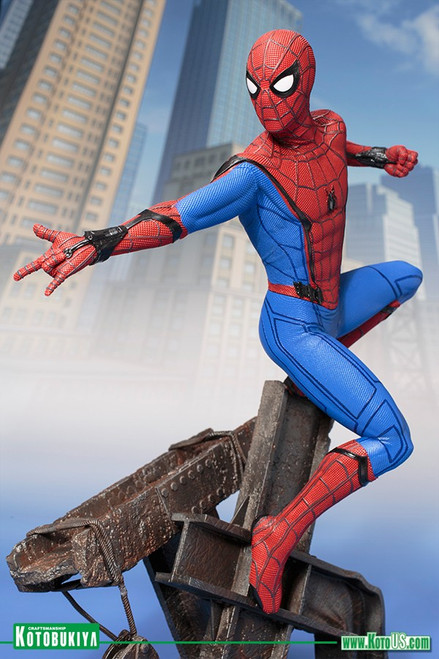 kotobukiya spiderman homecoming artfx statue