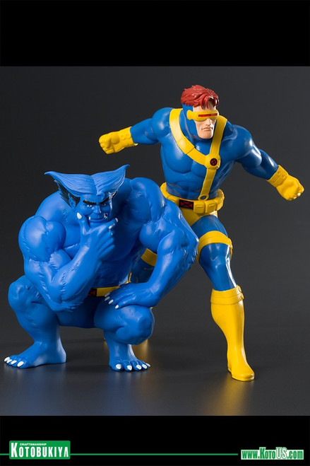 X-Men '92 Cyclops & Beast ARTFX+ Statue 2 Pack
