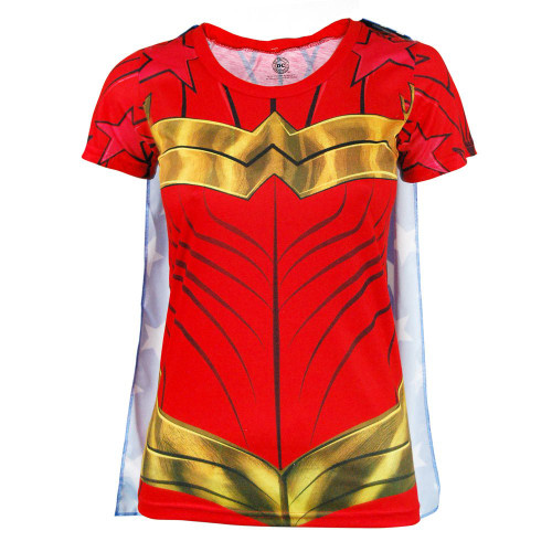 Wonder Woman T-Shirt with Detachable Cape