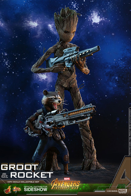Avengers: Infinity War Groot & Rocket 1:6 Scale Figure